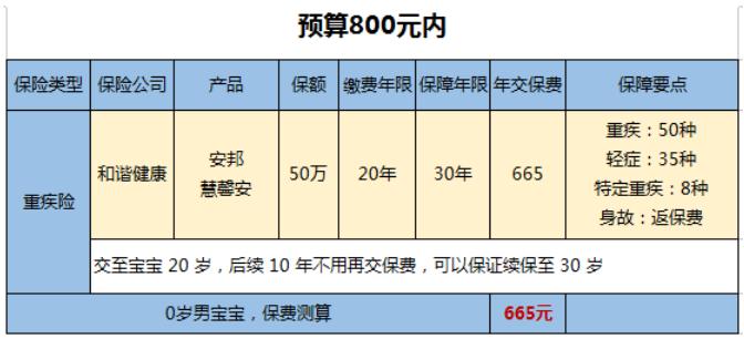 800预算